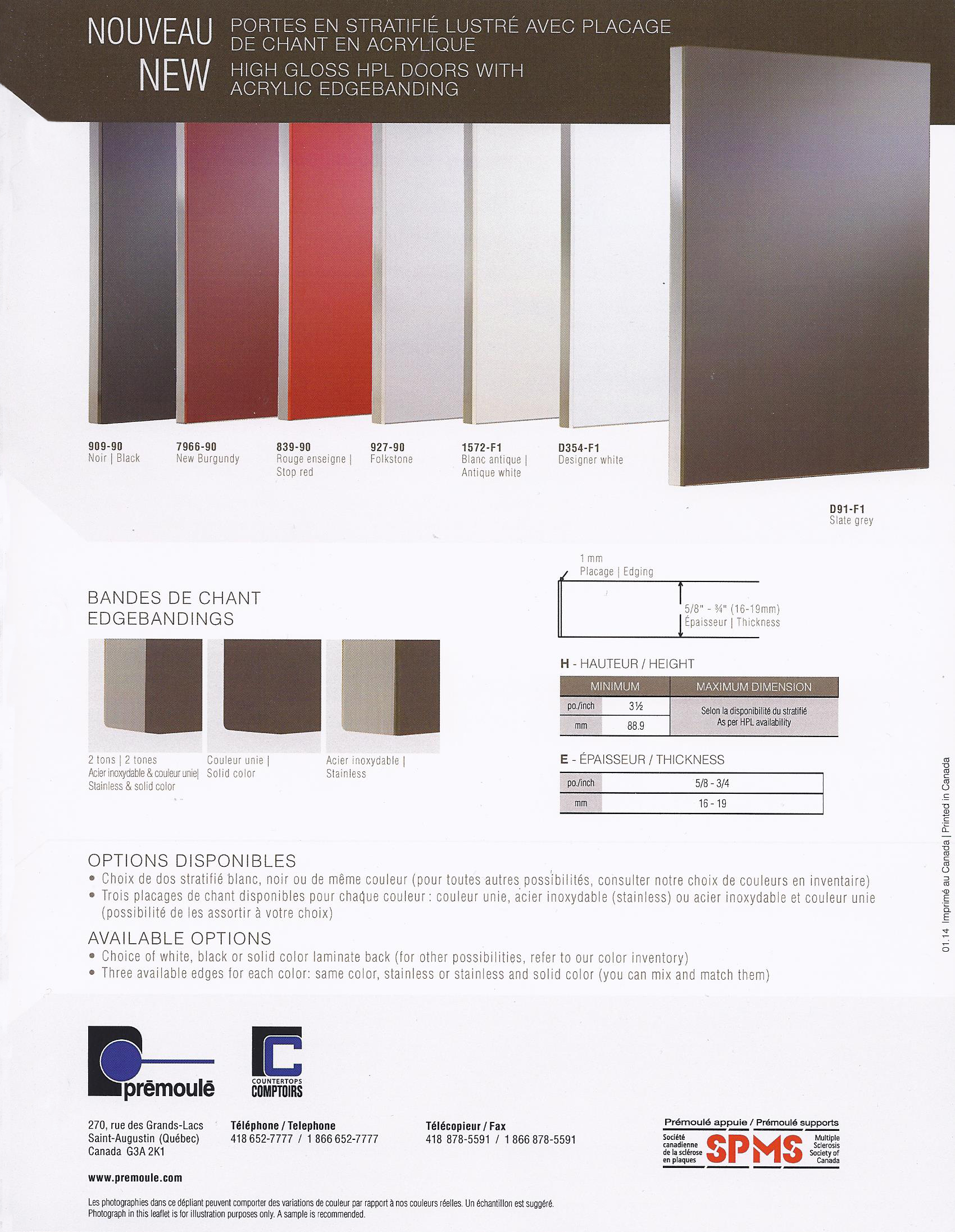 lechesne inc produits portes d 39 armoire victoriaville drummondville pr moul. Black Bedroom Furniture Sets. Home Design Ideas